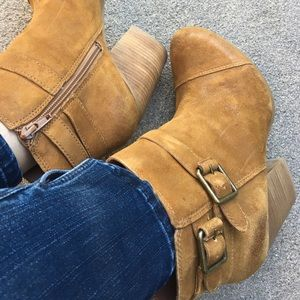 Lucky Brand Suede Heeled Booties